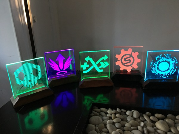 Laser Etched Overwatch Acrylic Lamps | dave eddy